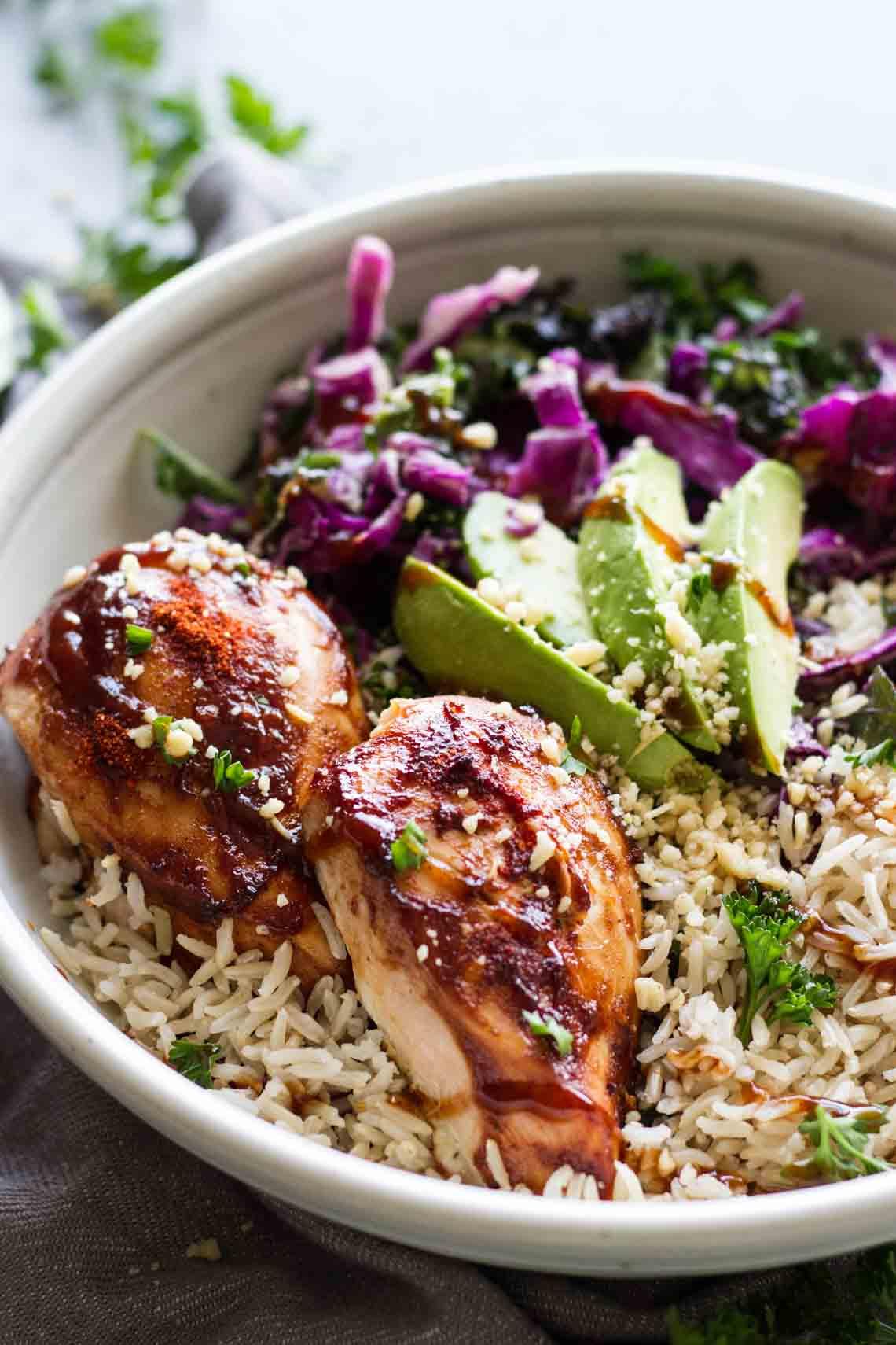 BBQ Chicken Power Bowls-How To Start Blogging