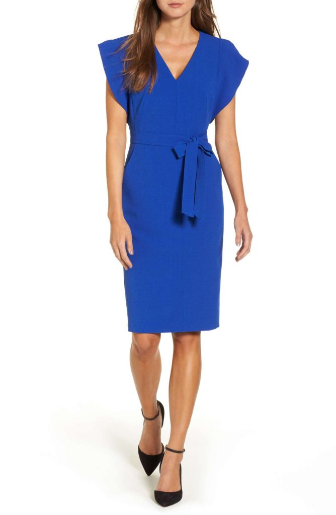 Ruffle Sheath Dress